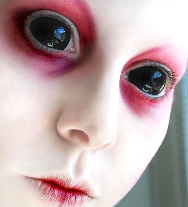 Как сделать черные глаза на приложение