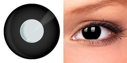 Декоративные черные линзы на роговицу производятся из силикон-гидрогелевого состава