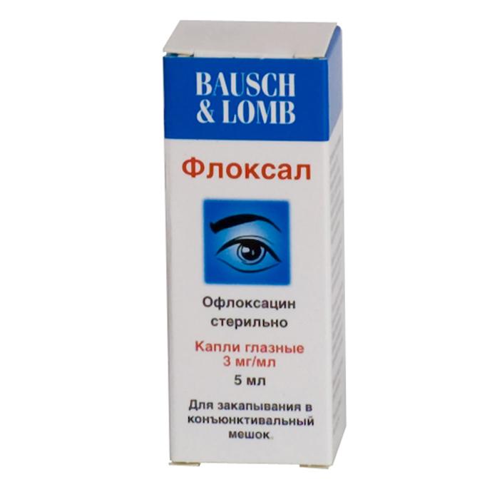 Глазные капли «Флоксал»
