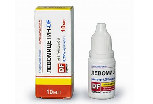 Глазные капли от аллергии Левомицетин