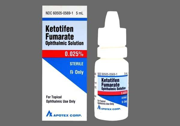 Капли для глаз Кетотифен обладает мощным блокирующим действием различных аллергенов