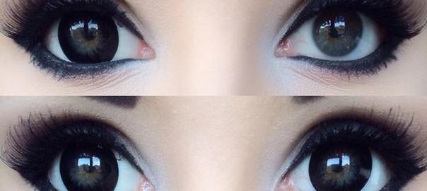 Линзы увеличивающие глаза