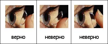Как правильно одевать линзы для глаз в первый раз с
