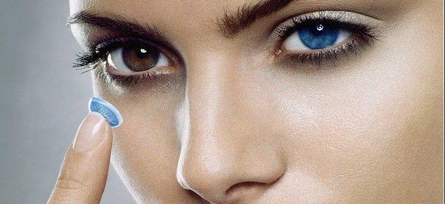 С помощью линз можно изменить цвет глаз