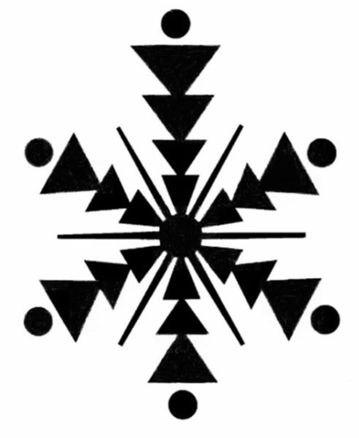 Тибетский графический символ для развитие периферического зрения