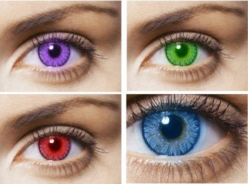 Цветные линзы для глаз вредны или нет