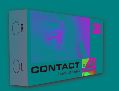 «Contact day 30 colors Tri-tone»