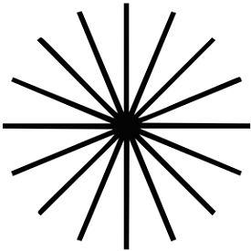 Таблица для проверки зрения на астигматизм