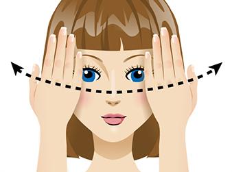 Упражнение «сквозь пальцы» для восстановления зрения в домашних условиях