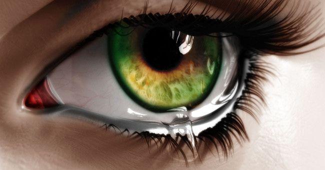 Слезы помогают очистить глаза от болезнетворных микроорганизмов