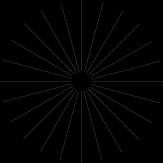 Тест на астигматизм с помощью звезды Сименса