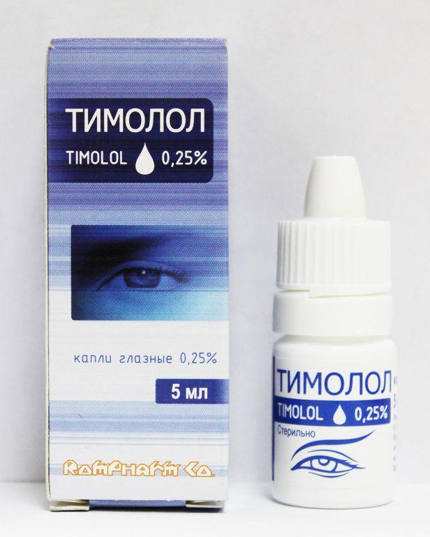 Форма выпуска глазных капель Тимолол