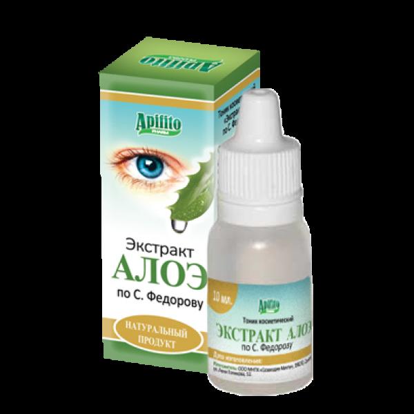 Экстракт алоэ по Федорову применяют для обеспечения питательными веществами тканей глаза