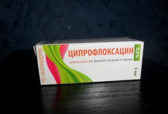 Глазные капли Ципрофлоксацин