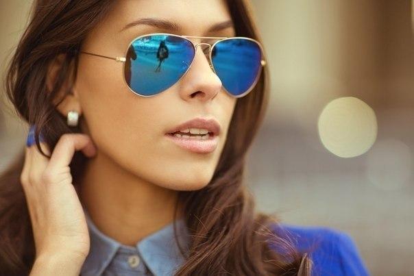 Женские солнцезащитные очки модели «Авиатор»