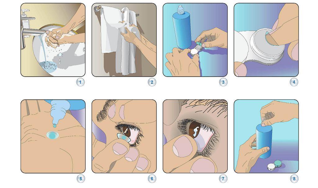 Как надевать контактные линзы
