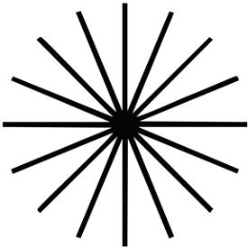 Тест на астигматизм. Таблица 2