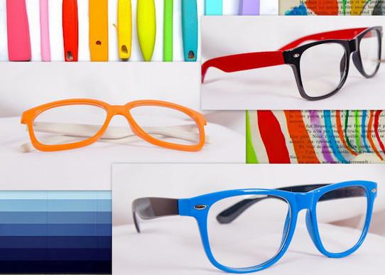 Цветные оправы очков для зрения