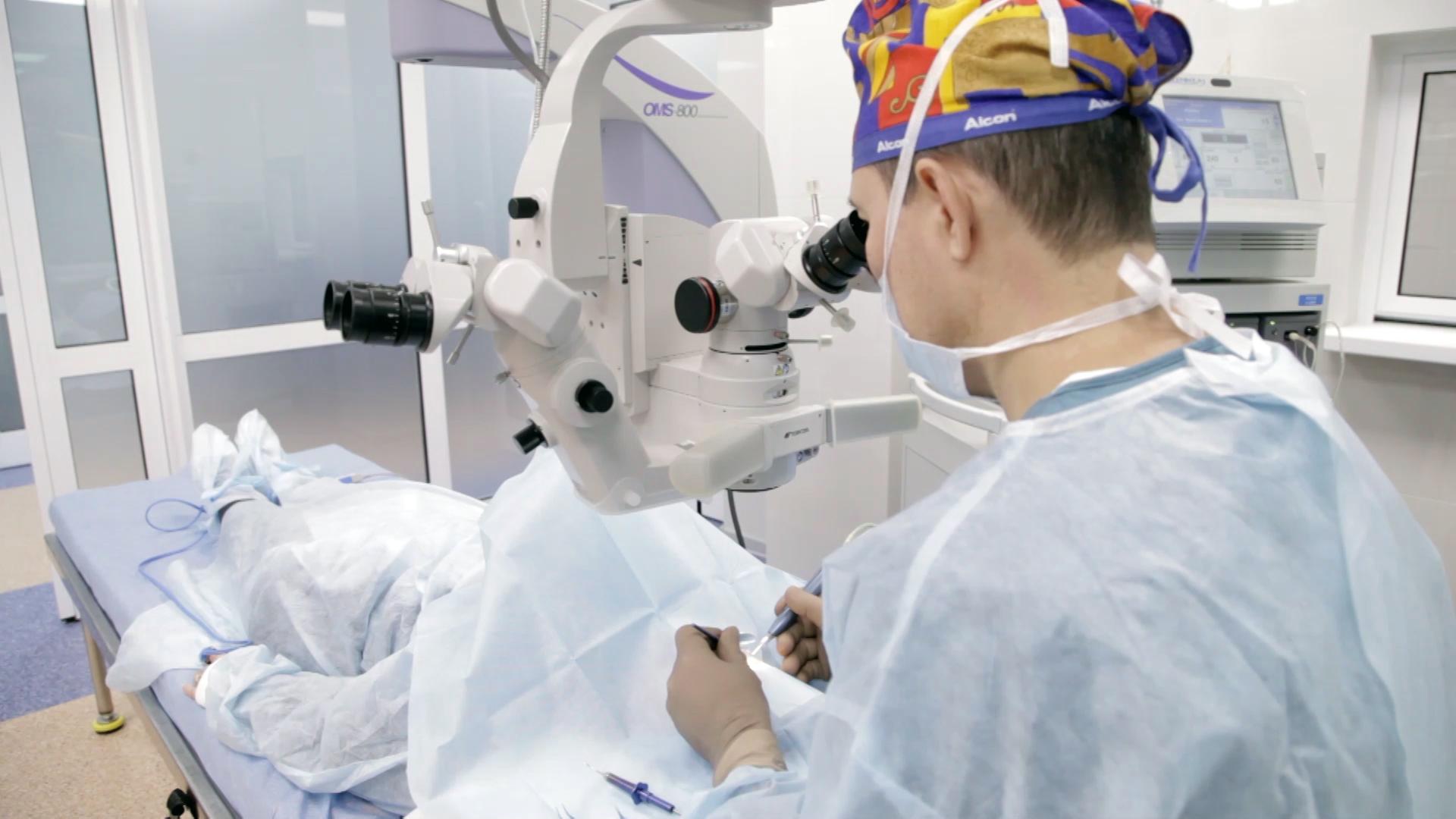 Витрэктомия глаза, операция