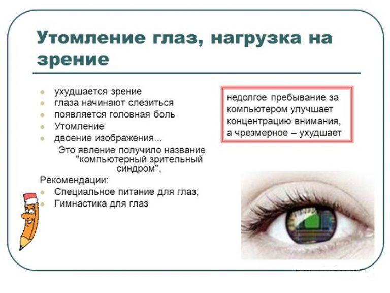Нагрузка на зрение