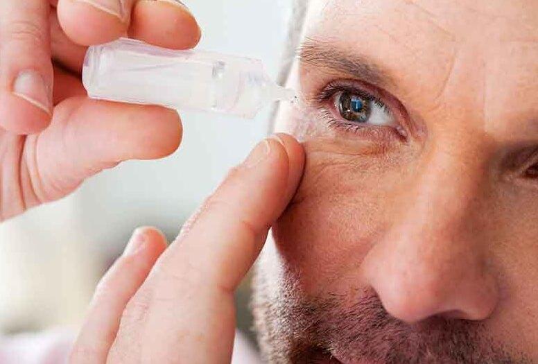 Не капайте глазные капли поверх контактных линз