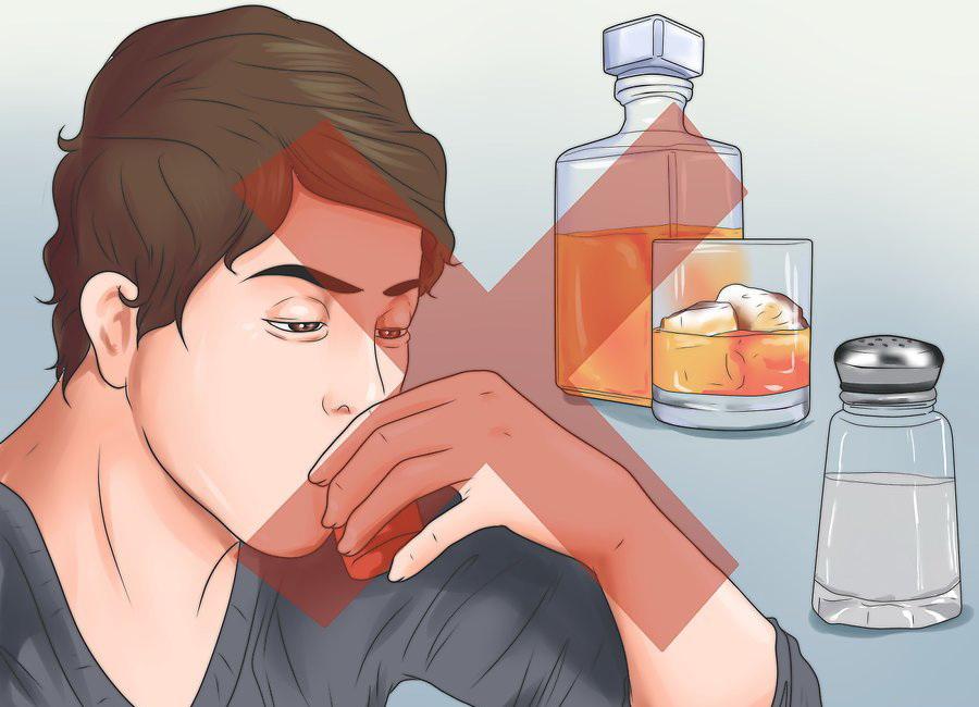 Ограничьте количество соли и алкоголя