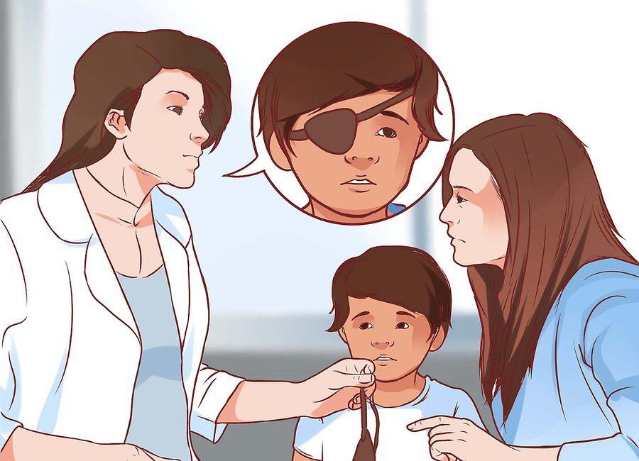 Приучите ребенка к повязке