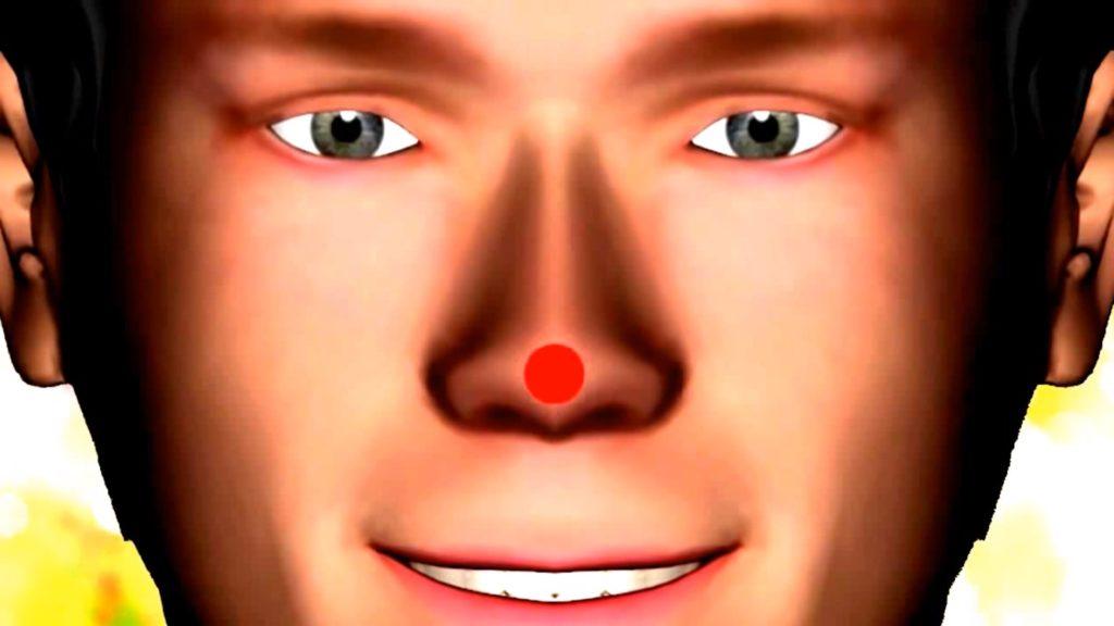 Требуется скосить глаза и посмотреть на кончик носа