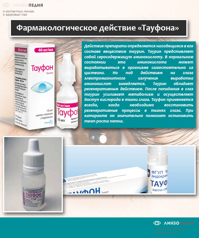 Фармакологическое действие «Тауфона»