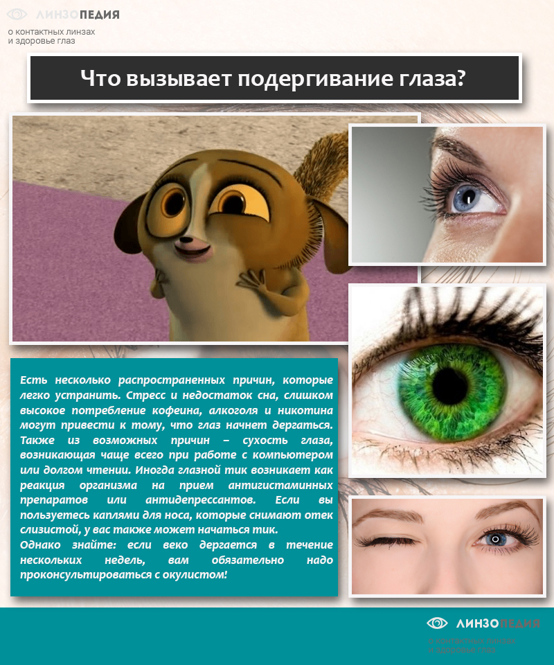 Что вызывает подергивание глаза