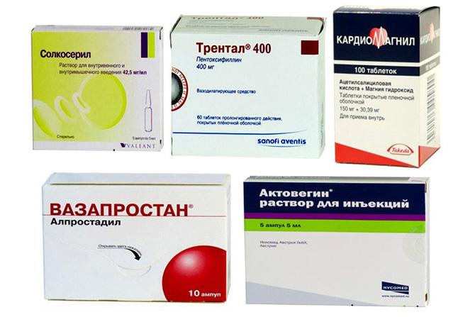 Лечение ангиопатии препаратами