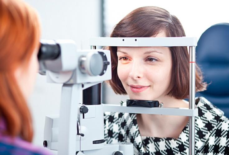 В кабинете офтальмолога