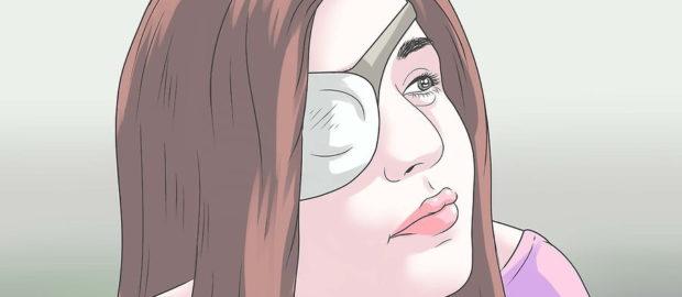 Марлевая повязка на глаз