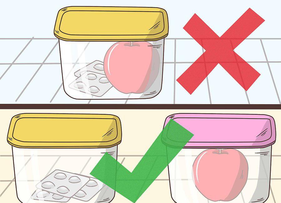 Нельзя оставлять БАДы рядом с продуктами питания