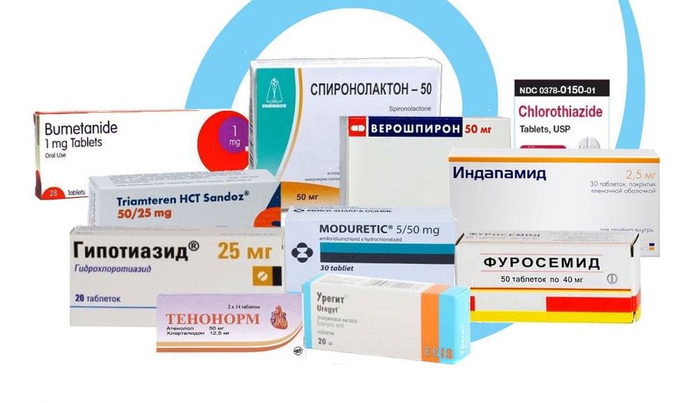 Популярные мочегонные препараты