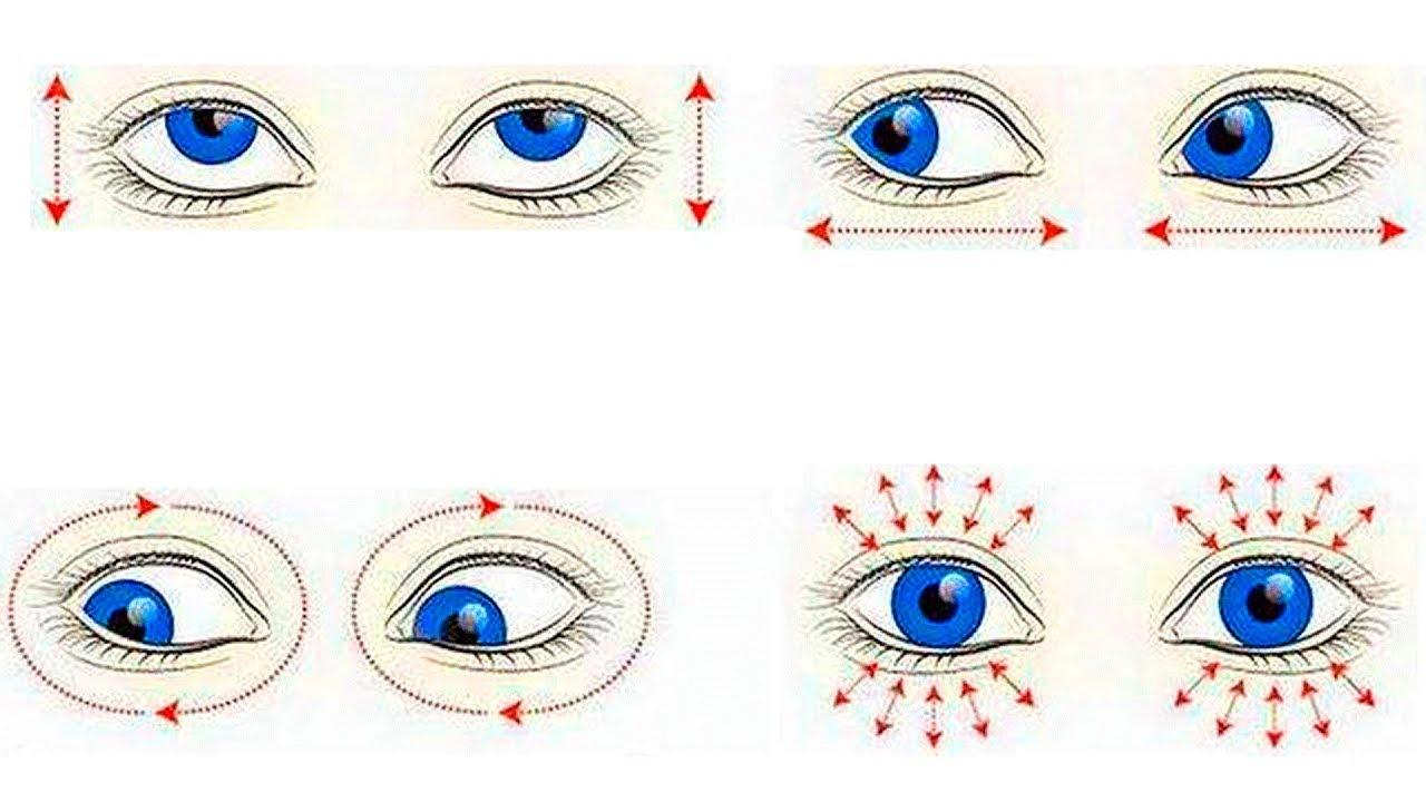 Простые упражнения для глазных мышц