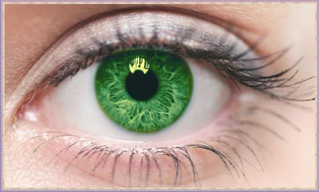Редкий зеленый цвет глаз