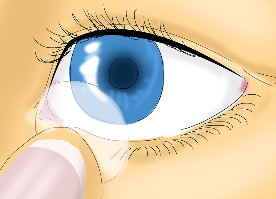 Снимите контактные линзы