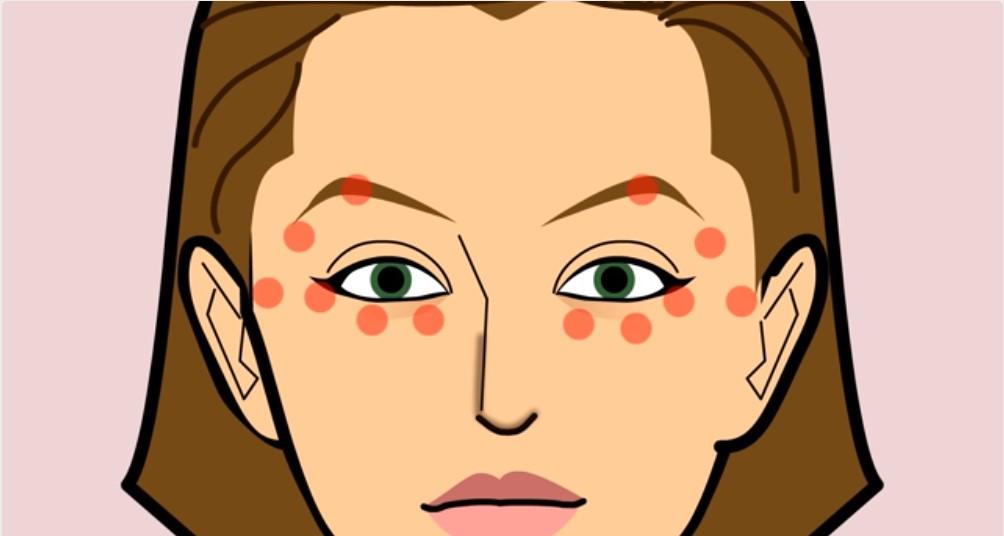 Биологически активные точки вокруг глаз
