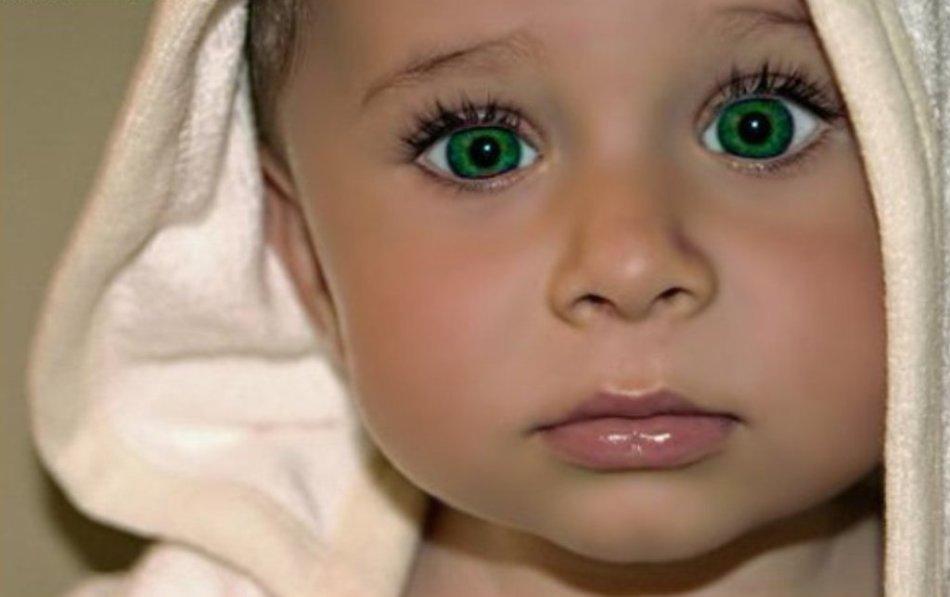 Зеленые глаза встречаются реже всего