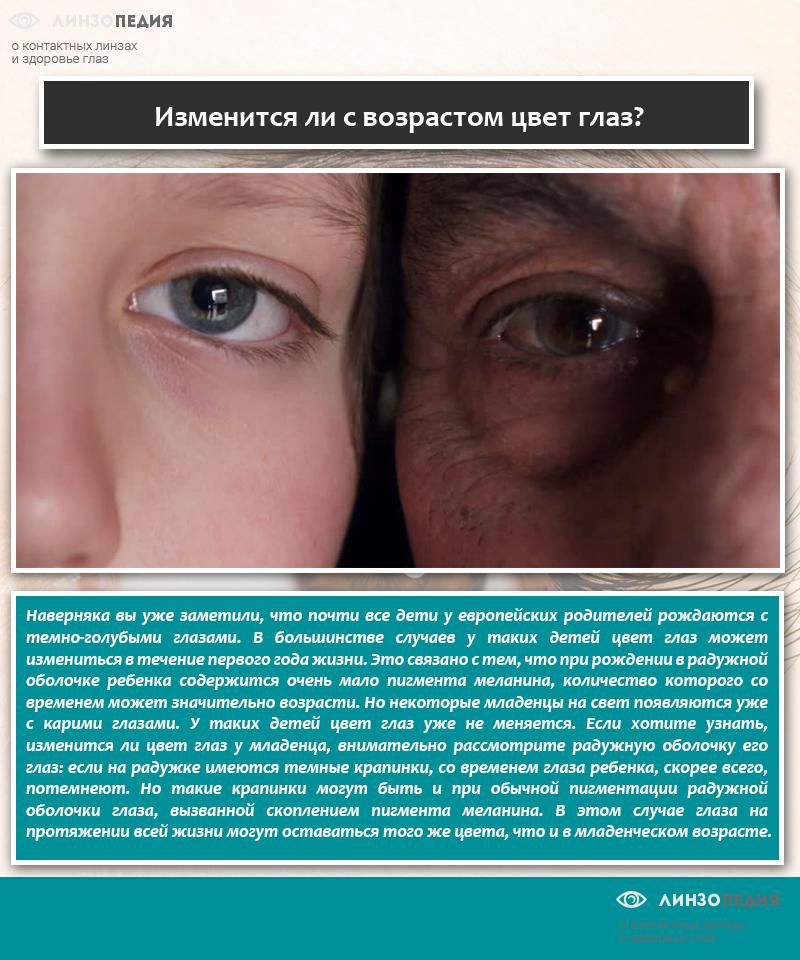 Изменится ли с возрастом цвет глаз
