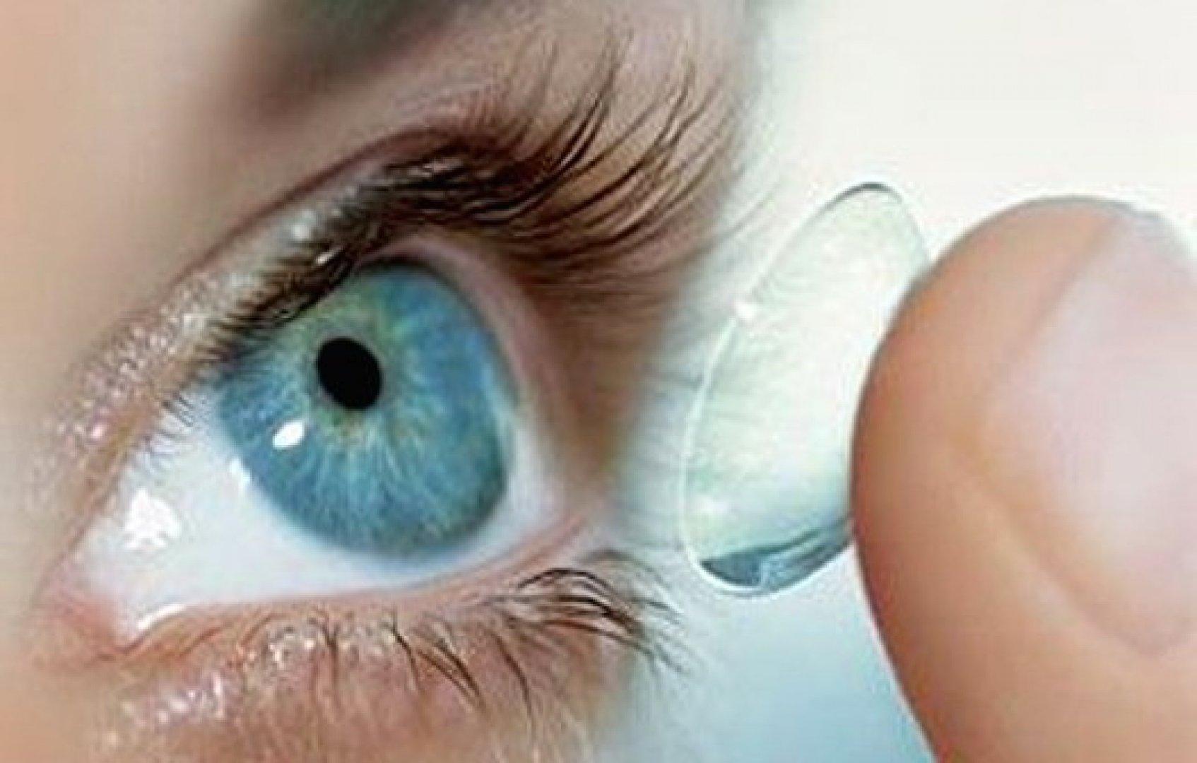 Лечение контактными линзами