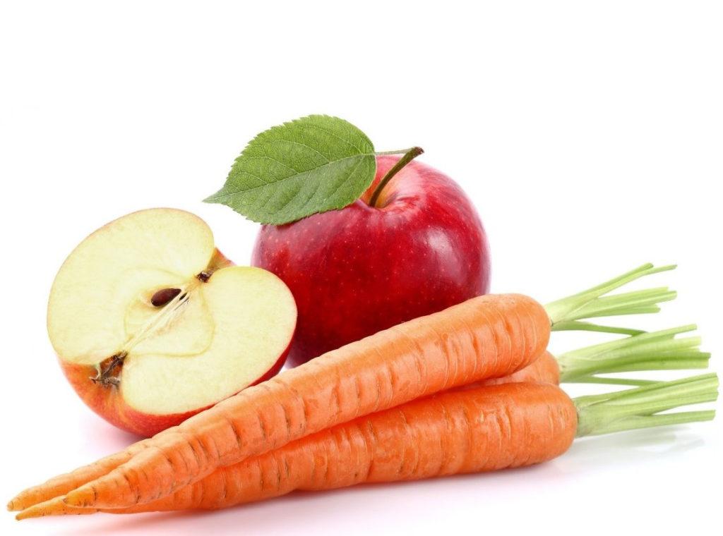 Морковь и яблоко помогут справиться с воспалением