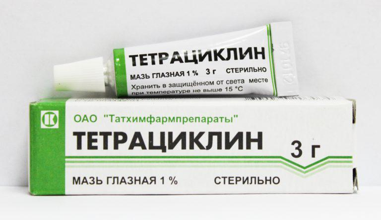 Тетрациклин используют при лечении коньюктивита