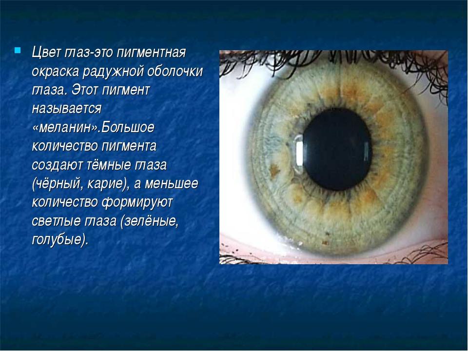 Что такое цвет глаз