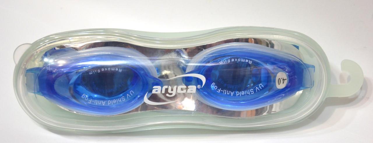 Очки для плавания (с диоптриями) в специальном пластиковом боксе