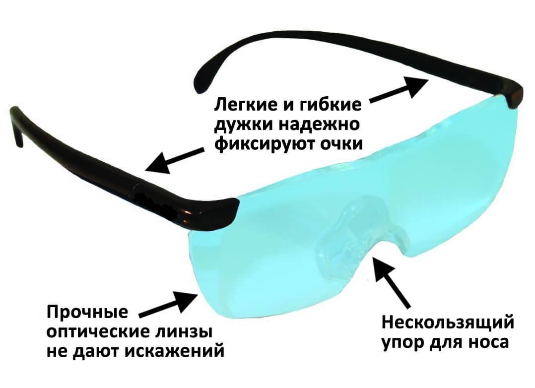 Очки-лупа имеют ряд преимуществ