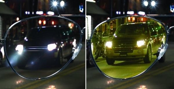 Антибликовые очки отлично помогают против ослепления со стороны встречного автотранспорта