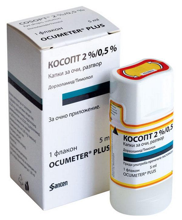 Основные действующие вещества «Косопта» - тимолол и дорзоламид