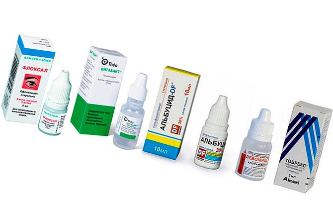 Антибактериальные капли в глаза